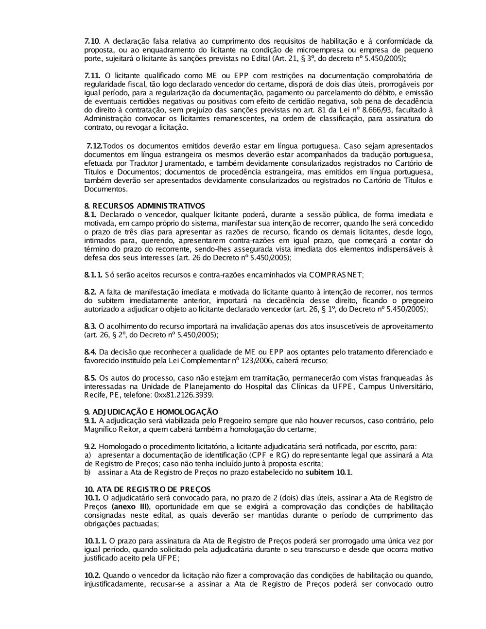 11ad6f7b5fcad Pregão nº 171 2012.pdf - Editais do Pregão - UFPE