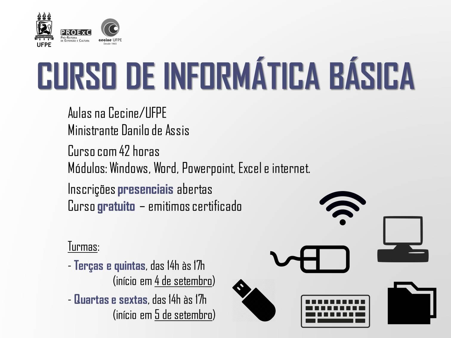 Curso De Informática Básica Tarde Noticias Ufpe