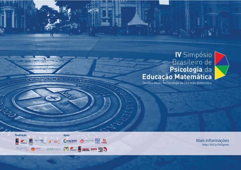 IV Simpósio Brasileiro de Psicologia da Educação Matemática